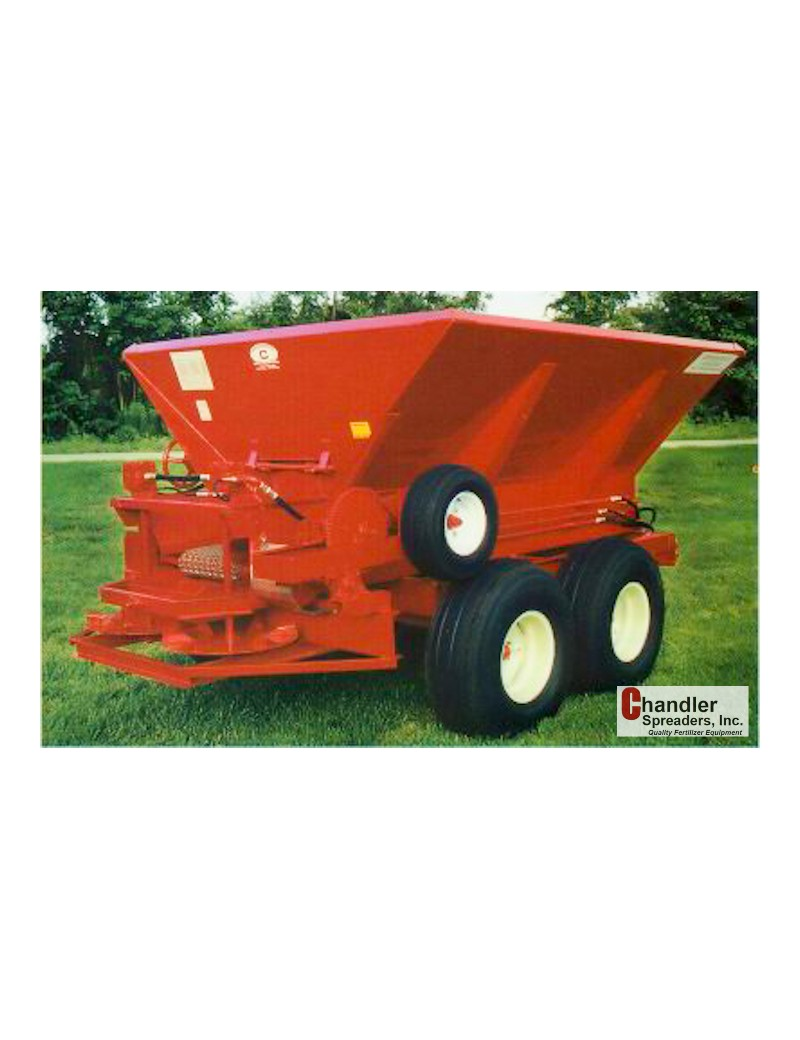 Plug-to-tractor hydraulics to run the spinners.